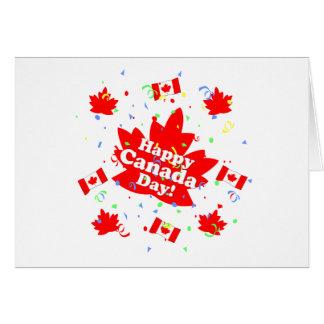 Lyckligt Kanada dagparty Hälsningskort