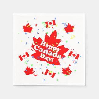 Lyckligt Kanada dagparty Papper Servetter
