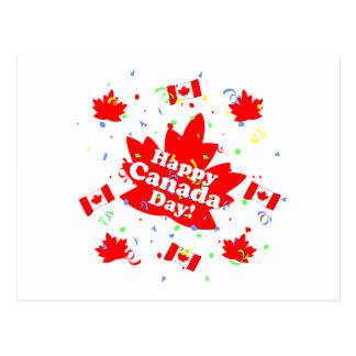 Lyckligt Kanada dagparty Vykort