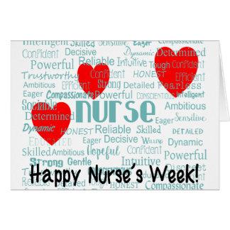 Lyckligt kort för sjuksköterskaveckahälsning