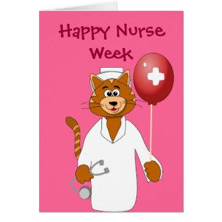 Lyckligt kort för tack för sjuksköterska för katt