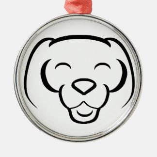 Lyckligt le för Shinese hund Julgransprydnad Metall