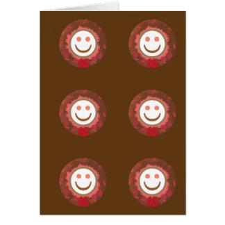 LYCKLIGT leende: SMILEY Hälsningskort