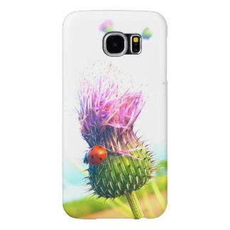 Lyckligt mobilt fodral för nyckelpigagalax S6 Samsung Galaxy S6 Fodral