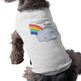 Lyckligt moln med regnbågen husdjurströja