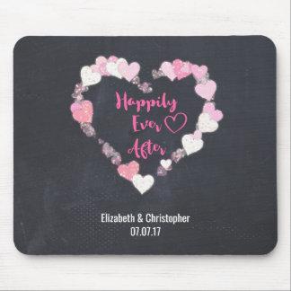 Lyckligt någonsin efter Glittery rosa ha gifta sig Musmattor