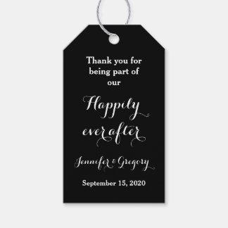 Lyckligt någonsin, når att ha gifta sig tackfavör presentetikett