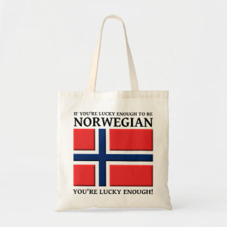 Lyckligt nog att vara norskt hänga lös tygkassar
