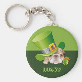 Lyckligt. Rolig gåva Keychains för St Patrick Rund Nyckelring