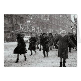 Lyckligt shoppa för jul! hälsningskort