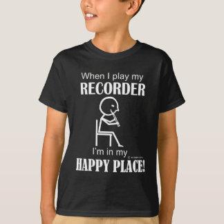 Lyckligt ställe för registreringsapparat tröjor