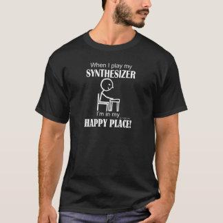 Lyckligt ställe för synt t shirts