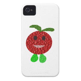 Lyckligt tomatblackberry boldfodral iPhone 4 hud