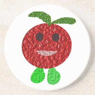 Lyckligt tomatunderlägg underlägg