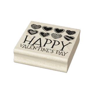 Lyckligt valentin frimärke för kaka för socker för stämpel
