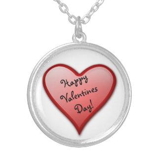 Lyckligt valentin halsband för daghjärta
