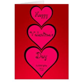 Lyckligt valentin kort för daghälsningar