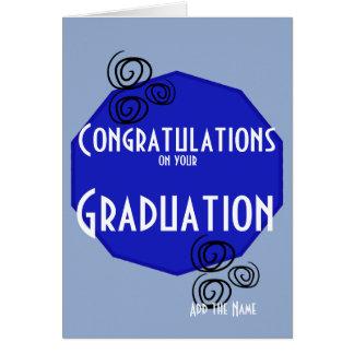 Lyckönskan på ditt namn för studentenblåttvit hälsningskort