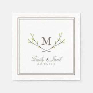 Lycksaligt gifta sig för grenar pappersservett