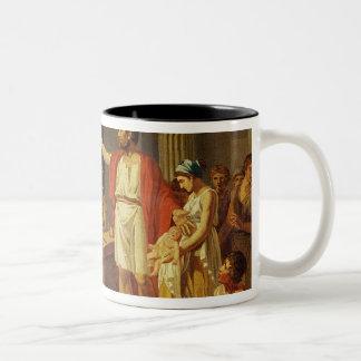 Lycurgus visning de deras ancientsna av Sparta Två-Tonad Mugg