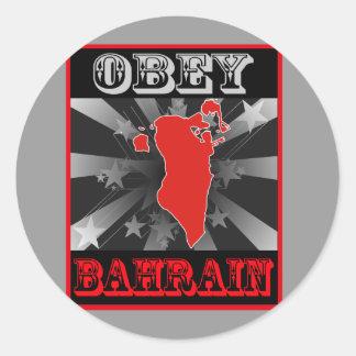 Lyda Bahrain Runt Klistermärke