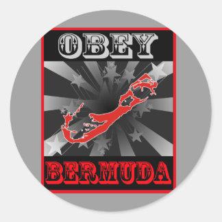 Lyda Bermuda Runt Klistermärke