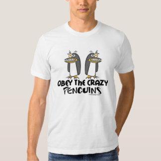 Lyda den galna pingvinT-tröja T Shirt