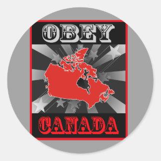 Lyda Kanada Runt Klistermärke