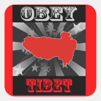 Lyda Tibet Fyrkantigt Klistermärke
