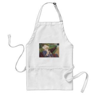 Lydia som virkar i trädgård på Marly, Mary Cassatt Förkläde