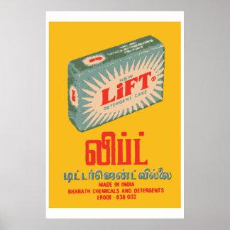 LYFT (den indiska vintagetändsticksasken täcker), Poster