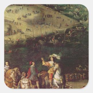 Lyfta av siegen av Ilen de Beträffande Fyrkantigt Klistermärke