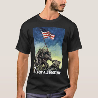 Lyfta flagga på Iwo Jima T-shirt