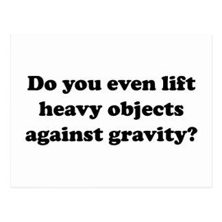 Lyfter du även skurkroll anmärker mot gravitation? vykort