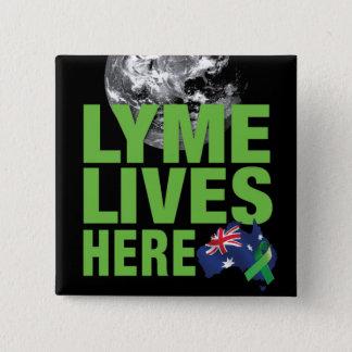 Lyme bor australiensisk flagga klämmer fast här standard kanpp fyrkantig 5.1 cm