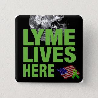 Lyme bor den United States medvetenheten knäppas Standard Kanpp Fyrkantig 5.1 Cm