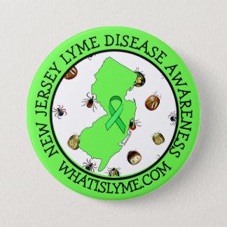 Lyme sjukdommedvetenhet i nytt - jerseybandet mellanstor knapp rund 7.6 cm
