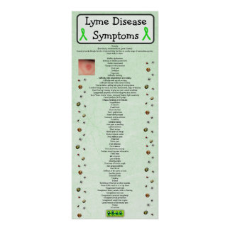 Lyme sjukdomtecken kartlägger den bilda affischen poster