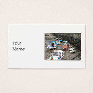Lynmouth hamn med Boats. Visitkort