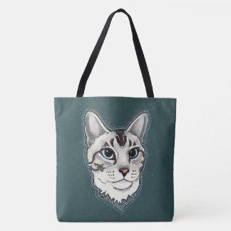 Lynxpoint hänger lös den Siamese katttotot Tygkasse