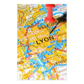 Lyon frankrike brevpapper