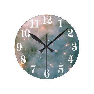 Lysande Carina Nebula Rund Klocka