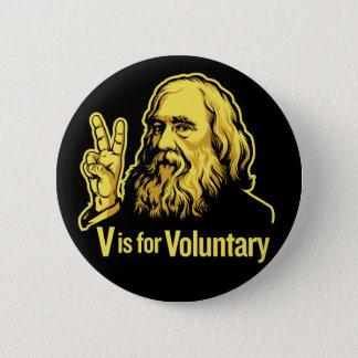 Lysander Spooner Voluntaryism knäppas Standard Knapp Rund 5.7 Cm