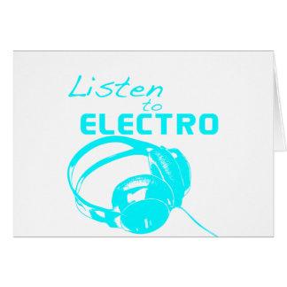 Lyssna till electroen kort