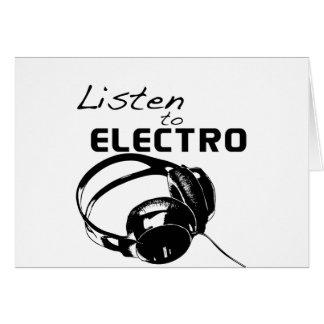 Lyssna till electroen hälsnings kort
