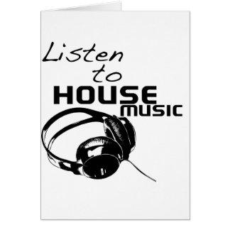 Lyssna till husmusik kort