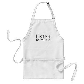 Lyssna till musik förkläde