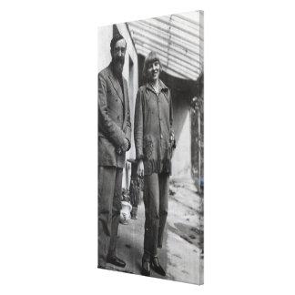 Lytton Strachey och Iristräd Canvastryck