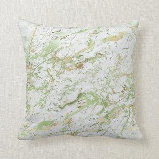 Lyx för marmor för vit för abstrakt Mintgrönt Kudde