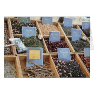 Lyx sorterar av tea hälsningskort